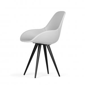 Kubikoff Angel stoel - Dimple POP shell - Kunstleer - Ecopelle - Zwart onderstel -