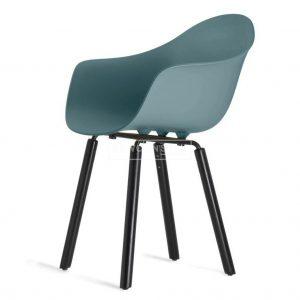 Toou TA stoel ? Met armleuning - YI Zwart houten poten - Eetkamerstoel kunststof