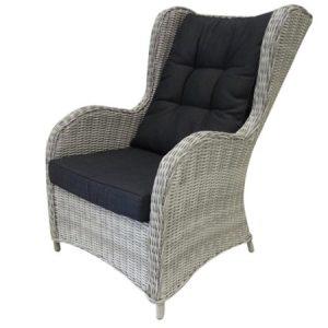 Arezza lounge tuinstoel wit grijs