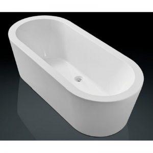 Blinq Arona bad vrijstaand 180x80 cm met badwaste & onderstel wit
