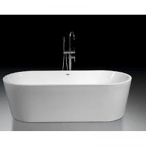 Blinq Fresno bad vrijstaand 180x80 cm.met badwaste en onderstel wit