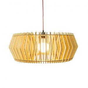 Bomerango Caeser lamp   Extra largehouten Scandinavische design lamp