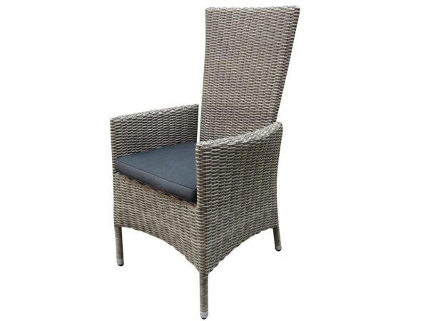 Capri verstelbare dining stoel natural kobo grey + royal dark grey