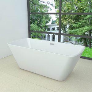 Wiesbaden vrijstaand bad 178x80cm rechthoekig wit
