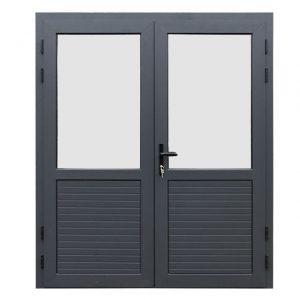 Fonteyn Aluminium dubbele deur 1/2 glas
