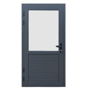 Nvt Aluminium enkele deur 1/2 glas