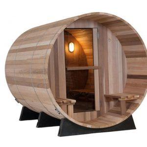 Barrel Sauna Clear 7+1 ft. - Fonteyn