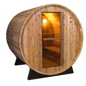 Barrel Sauna Rustic 8 ft. - Fonteyn