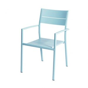 Grace Stacking Chair Alu - Ice Blue - Max & Luuk