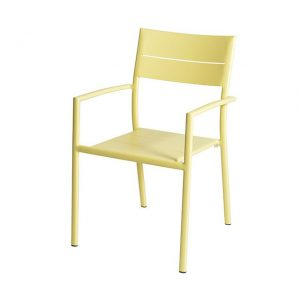 Grace Stacking Chair Alu - Yellow - Max & Luuk