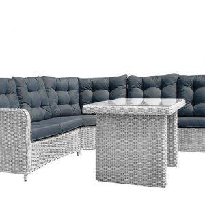 Lounge-Diningset Allure White Grey SUNS