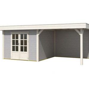 OLP Outdoor Life Products Tuinhuis met Overkapping Outdoor Living 6030/20 Extra Gecoat