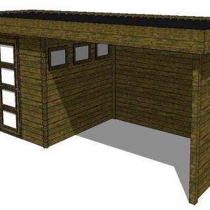 Tuinhuis/Blokhut Fonteyn Module 800 x 300