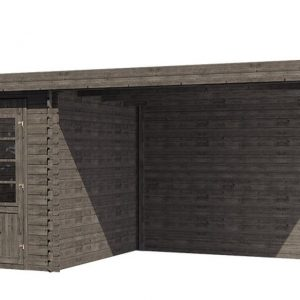 Tuinhuis/Blokhut Fonteyn Petra platdak Hogedruk geimpregneerd Grijs 597x300 cm