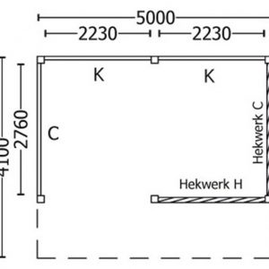 Nvt Tuinhuis / Blokhut Trendhout Kapschuur De Stee L 5000mm C