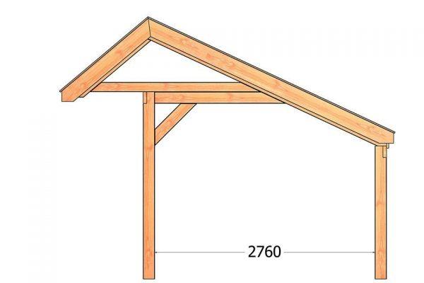 Nvt Tuinhuis / Blokhut Trendhout Kapschuur De Stee L 7400mm B