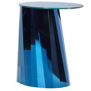ClassiCon Pli High bijzettafel 53x42 blauw tafelblad glanzend
