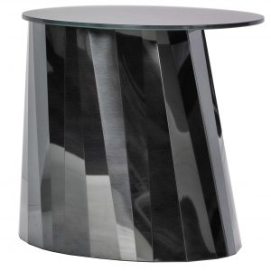 ClassiCon Pli Low bijzettafel 53x42 zwart tafelblad gesatineerd