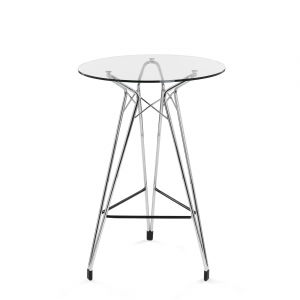 Kubikoff Diamond Bar Table - Ronde bartafel - Chroom -