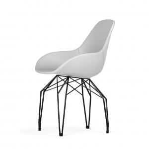 Kubikoff Diamond stoel - Dimple POP shell - Kunstleer - Zwart onderstel -