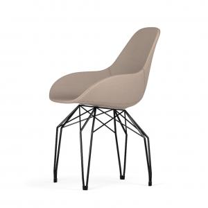 Kubikoff Diamond stoel - Dimple POP shell - Stof - Zwart onderstel -