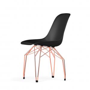 Kubikoff Diamond stoel - V9 Side Chair Shell - Koper onderstel -