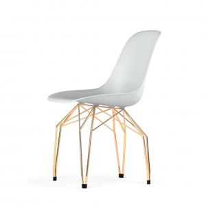 Kubikoff Diamond stoel - V9 Side Chair Shell - Goud onderstel -