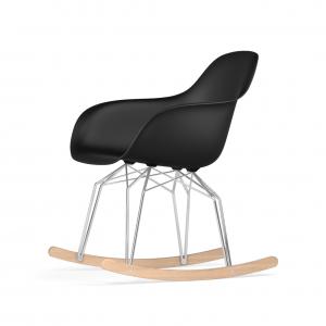 Kubikoff Diamond schommelstoel - V9 Armshell - Chroom met eiken onderstel -