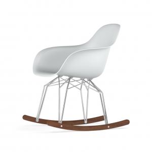 Kubikoff Diamond schommelstoel - V9 Armshell - Chroom met walnoten onderstel -