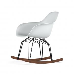 Kubikoff Diamond schommelstoel - V9 Armshell - Zwart met walnoten onderstel -