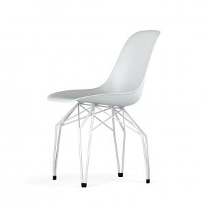 Kubikoff Diamond stoel - V9 Side Chair Shell - Wit onderstel -