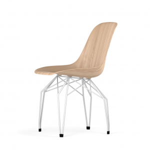Kubikoff Diamond stoel - W9 Side Chair Shell - Wit onderstel -