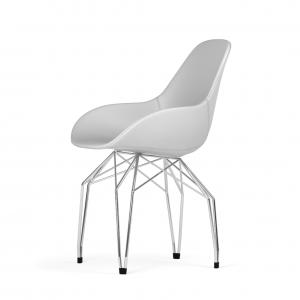 Kubikoff Diamond stoel - Dimple POP shell - Kunstleer - Chroom onderstel -