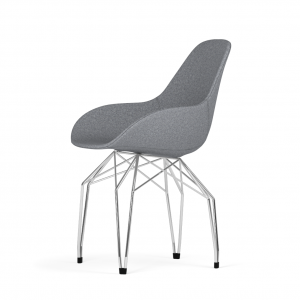 Kubikoff Diamond stoel - Dimple POP shell - Stof - Chroom onderstel -