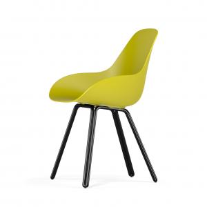 Kubikoff Double stoel - Dimple Closed - Zwart onderstel -