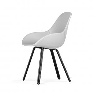Kubikoff Double stoel - Dimple POP shell - Kunstleer - Zwart onderstel -