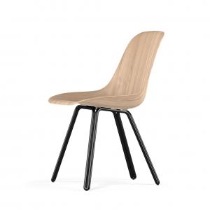 Kubikoff Double stoel - W9 Side Chair Shell - Zwart onderstel -