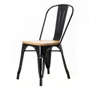 Legend Caf? stoel - Houten zitting - Tolix - Chaise A - Retro - Industrieel design