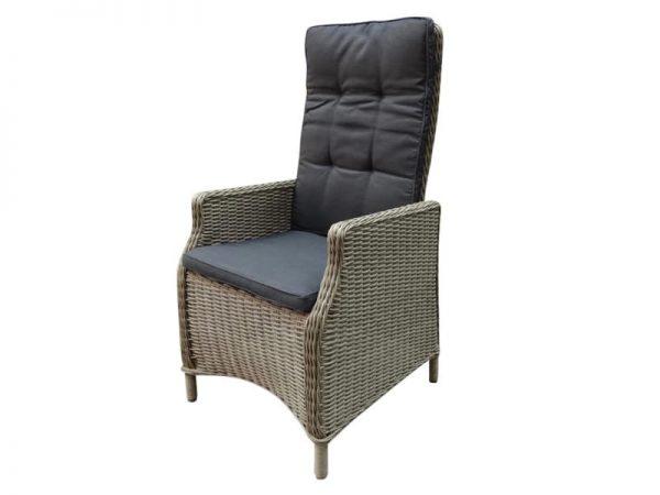 Empoli verstelbare dining stoel natural kobo grey + royal dark grey