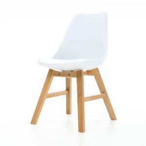 Essence Drevo stoel - Houten onderstel - kuipstoel ? Scandinavisch ? design - eetkamerstoel