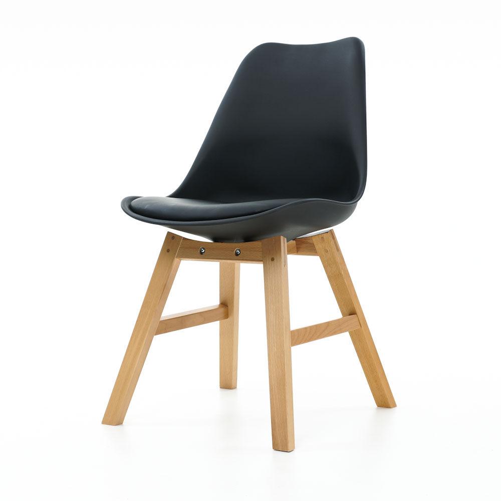 Essence Drevo stoel Houten onderstel kuipstoel