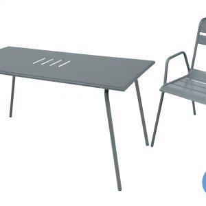 Fermob Monceau tuinset 146x80 tafel + 4 stoelen