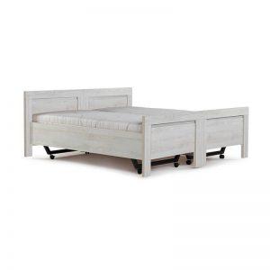 Vroomshoop Ledikant Miami - Deelbaar - Wit Breedte 180 cm