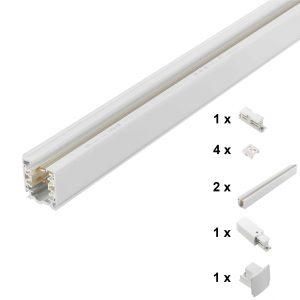 First Light Set railsysteem 3 meter wit voeding eind