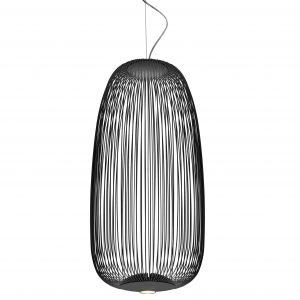 Foscarini Spokes 1 hanglamp LED dimbaar grafiet