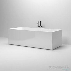 Clou InBe vrijstaand ligbad 180x80 cm geïntegreerde overloop wit