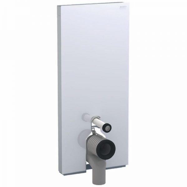 Geberit Monolith plus module voor staand closet h114 glas zwart-aluminium