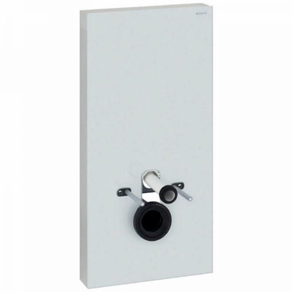 Geberit Monolith plus module voor wandcloset h101 glas wit-aluminium
