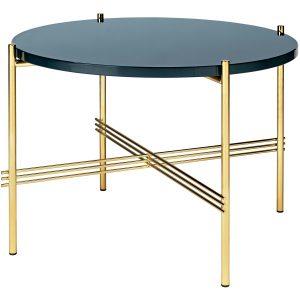 Gubi TS Table Glass bijzettafel brass 55cm Grey Blue