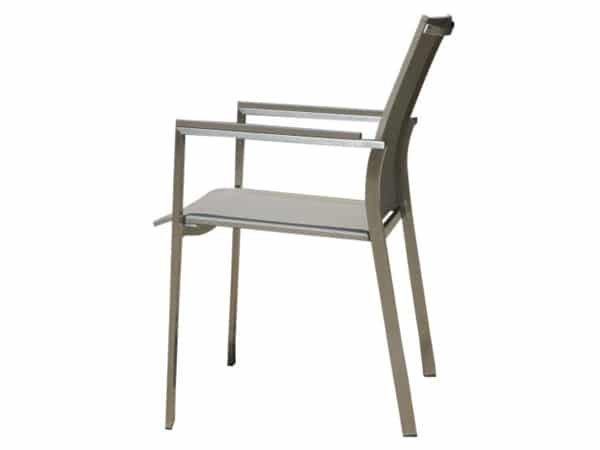 Hagen rvs Mouse grey textileen stoel